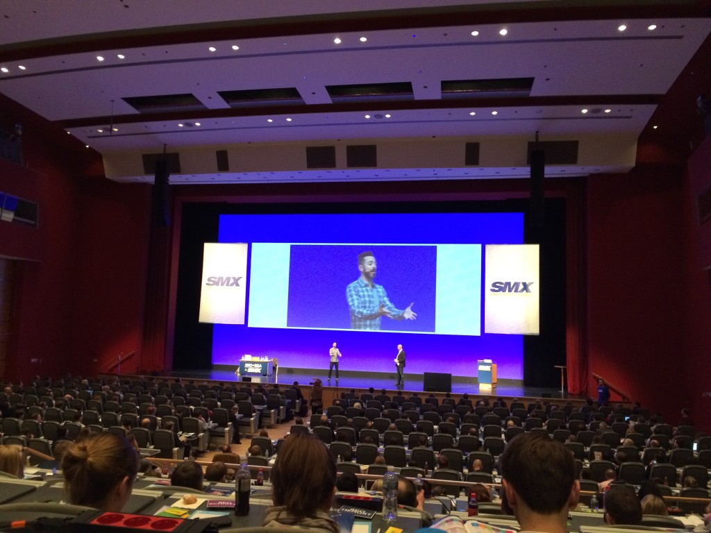 Rand Fishkin bei der Keynote der SMX 2015