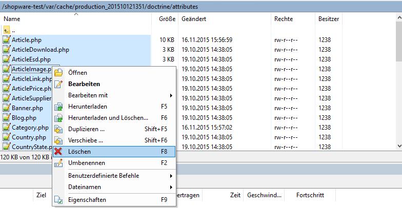 Cache-Daten löschen