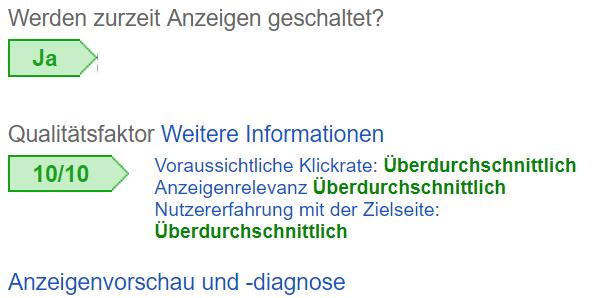 Benutzerdefinierte Spalten in Google AdWords