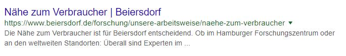 beiersdorf.de Snippet
