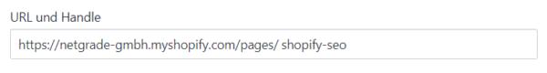 Shopify SEO - URLs