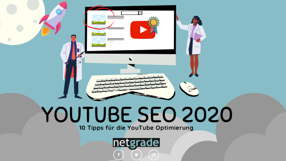 Der YouTube SEO Blogbanner von netgrade