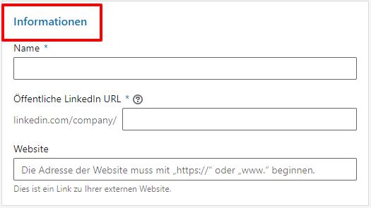 LinkedIn Profil anlegen